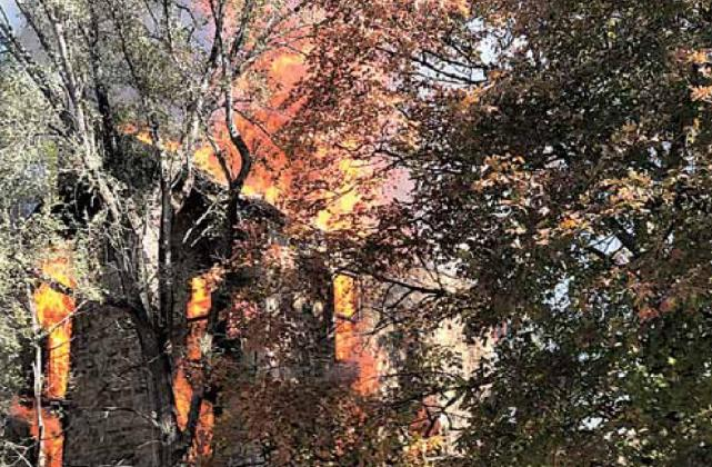 Historic Table Rock home burns