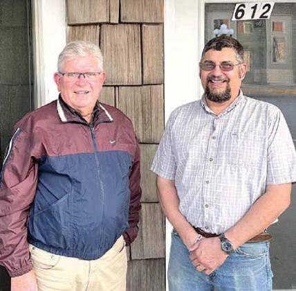 The new Pawnee City Councilmen are Bruce Haughton and Donnie Fisher. Ray Kappel/Republican