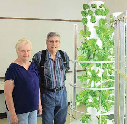 Pat and Linn Sunderland have started a Tower Farming business in the old High School at Summerfield, Kansas. Ray Kappel/Republican